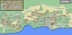 Карта Алупки с улицами