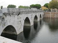 В исторической части Римини.