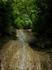 Водопадик в  Гуамском ущелье скатывающийся вниз под железной дорогой