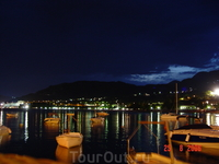 Вид на вечерний город из посёлка Рафаиловичи