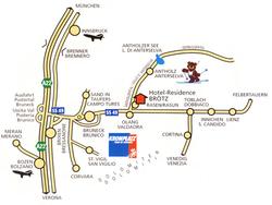 Карта Антхольц Антерсельва