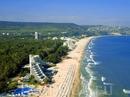 Панорама на отели и пляжи Албены