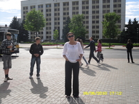 """Площадь у """"Белого"""" дома."""