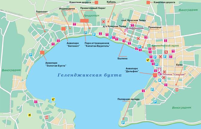 Карта Геленджика и