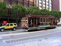 кабельный трамвай - одна из достопримечательностей Сан-Франциско