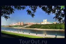 Чебоксарский залив - вид на театр оперы и балета