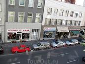 Вид из окна отеля, Дюссельдорф