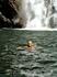 поплавали у водопада,вода ледяная,бодрит!к водопаду не подплыть,течение не дает