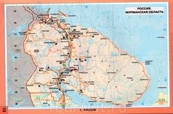 Карта автомобильных дорог Мурманской области