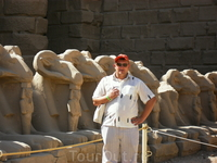 аллея сфинксообразных овнов, которая соединяла Луксорский и Карнакский храмы.