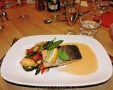 А это собственно ужин - очень вкусная красная рыбка
