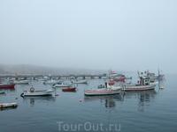 Порт Сагреша утром.