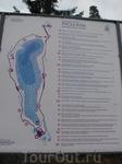 Рускеала. Мараморный карьер.  разрабатывался с 1765 года, сегодня его протяженность с севера на юг составляет 460 метров, ширина — до 100 метров.