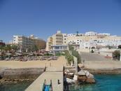 Вид отеля Сфинкс с моря