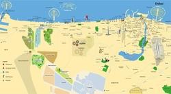 Карта Дубая на русском