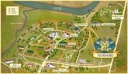 Карта усадьбы Поленово