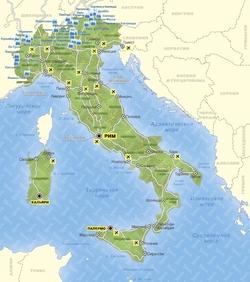 Горнолыжная карта Италии