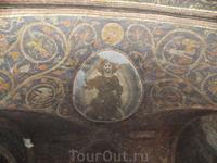 Храм Гроба Господнего,потолок на Голгофе