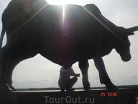 знаменитый ракверский тур. Он стоит на горе, высоко над всем городом, прямо напротив театра