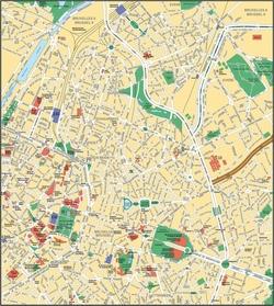 Карта Брюсселя на русском