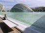 Справа от El Hemisférico виден похожий на мост L'Umbracle. Это пространство выполняет роль ботанического сада, в нем разместились культуры, произрастающие ...