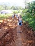 После дождя дорога испортилась