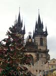 В праздничные дни Староместская площадь превращается в огромное пространство радости, символом которого является огромная настоящая елка.