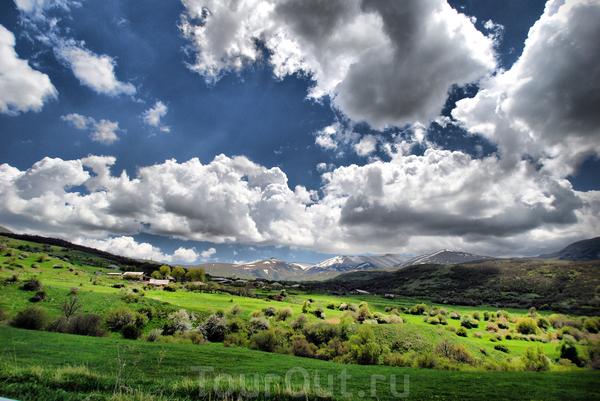 Пейзаж в Армении.