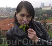 Чудесный район города Вышеград,зеленые холмы и много цветущей сирени.