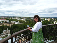 Вид на кремль с колокольни