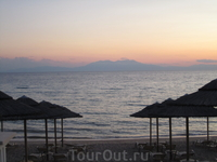 Гора Олимп на закате