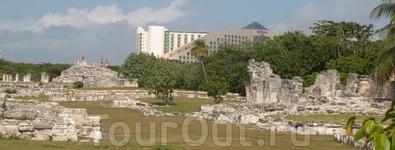 всюду руины городов майя
