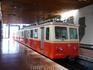 Поезд ж/д на червячной передаче, на котором спускался из Штрбске-Плесо в Штрбу (в павильоне на вокзале)