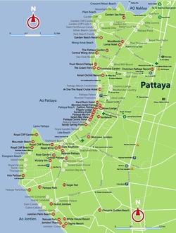 Карта отелей Паттайи