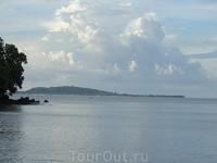 Вид с пляжа Малибу