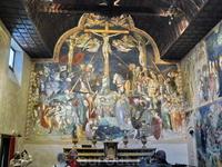 Урбино, Oratorio di San Giovanni Battista. Роспись братьев Лоренцо  и Якопо Салимбени. Распятие.