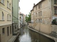 Река Чертовка, маленькая Венеция в Праге