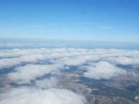 Вид на Лиссабон с борта самолета