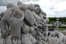 Дети, в парке скульптур Вигеланда