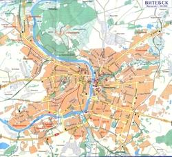 Карта Витебска