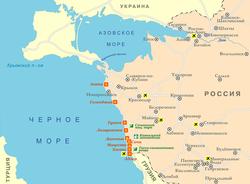 Карта побережья Краснодарского края