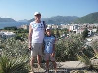 """Мы с внуком на фоне Мармариса с """"обзорной площадки"""""""