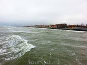Балтийское море и вид на Зеленоградск.