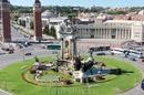 Площадь Испании в Барселоне. Вид со смотровой площатки Барселон-Арены.