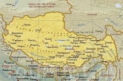 Карта Тибета на русском