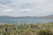 Вид на озеро Севан и горы
