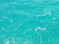 Потрясающий цвет воды