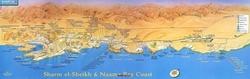 Карта побережья Шарм эль Шейха