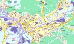 Карта Улан-Удэ с улицами