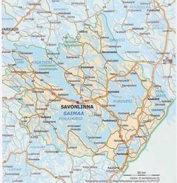 Савонлинна на карте